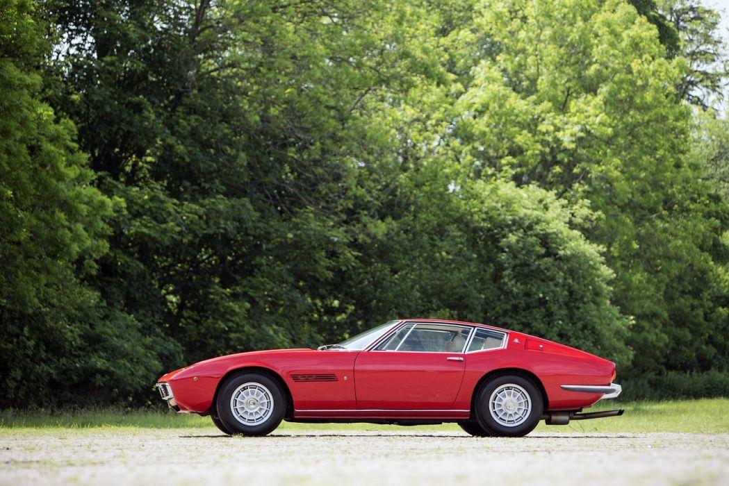 Maserati Ghibli SS UK-spec 1970 cars red classic wallpaper