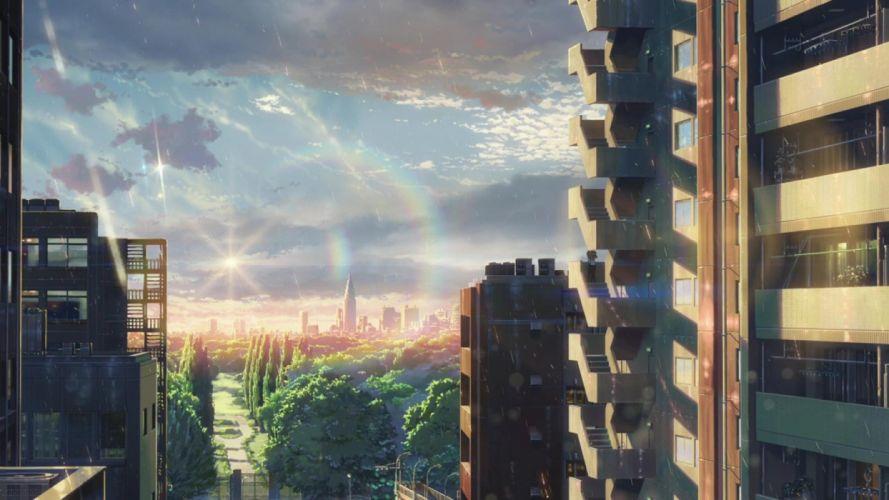 anime original city scenery wallpaper