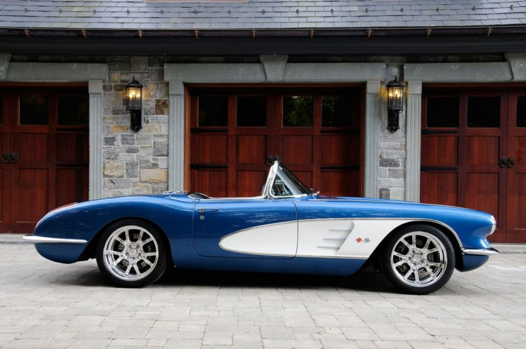 1959 chevrolet Corvette LS3 convertible (c1) cars classic modified wallpaper