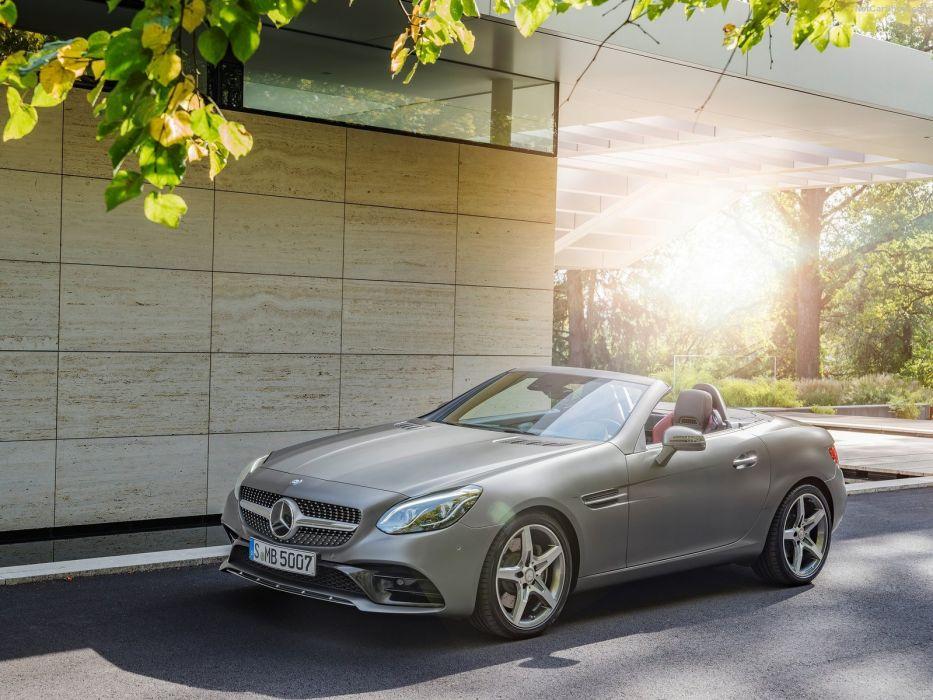 2016 benz Mercedes r172 roadster SLC 300 cars wallpaper