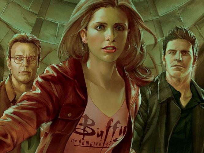 BUFFY VAMPIRE SLAYER supernatural dark horror thriller series action drama fantasy Sarah Michelle Gellar poster wallpaper
