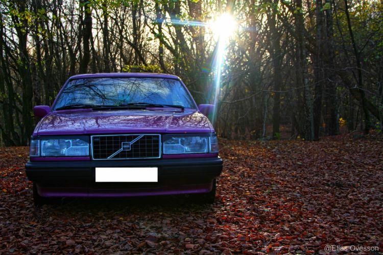 coche sueco volvo bosque wallpaper