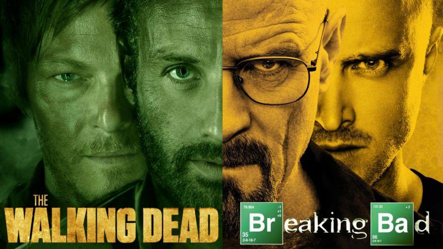 BREAKING BAD series drugs crime drama thriller dark poster walking dead wallpaper