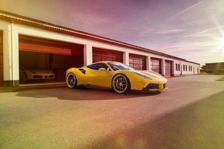 Novitec Rosso 2016 carbon body modified ferrari 488 GTB cars wallpaper