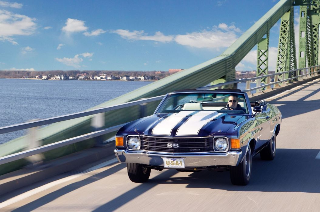 1972 chevy Chevelle SS convertible cars classic wallpaper