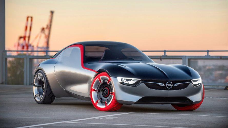 opel concepto gris coche alemania wallpaper