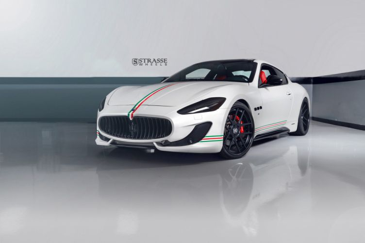 White Maserati Gran Turismo Strasse Wheels cars wallpaper