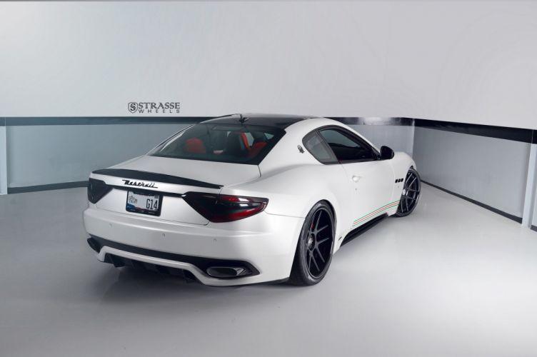 White Maserati Gran Turismo Strasse Wheels cars wallpaper