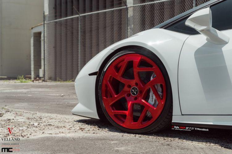 White LAMBORGHINI HURACAN vellano Wheels cars wallpaper