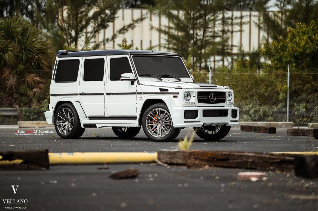 White mercedes g63 suv vellano Wheels cars wallpaper