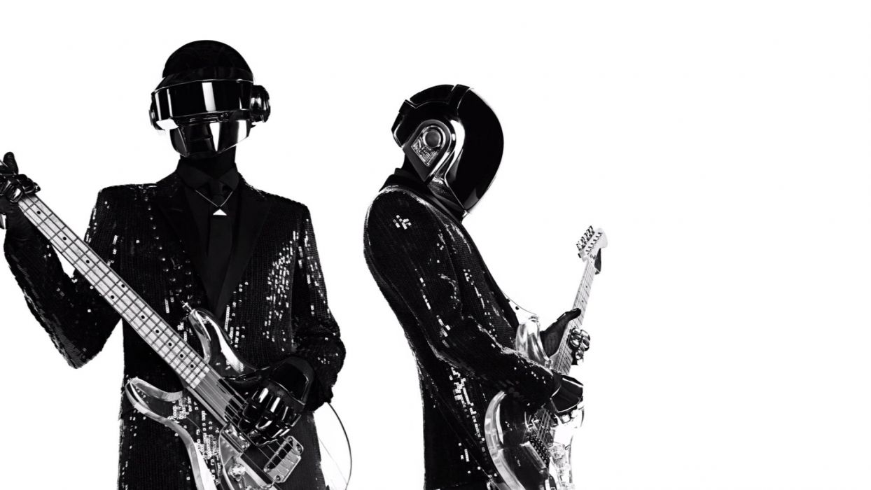 DAFT PUNK dubstep electro house dance disco electronic robot cyborg poster guitar wallpaper