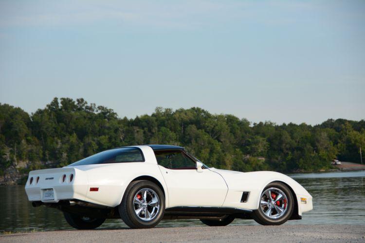 1980 chevy white cars modified Corvette (c3) wallpaper