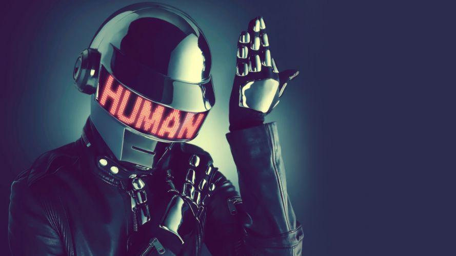 DAFT PUNK dubstep electro house dance disco electronic robot cyborg poster wallpaper