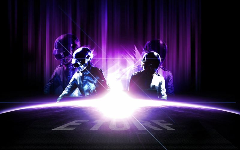 DAFT PUNK dubstep electro house dance disco electronic robot cyborg wallpaper