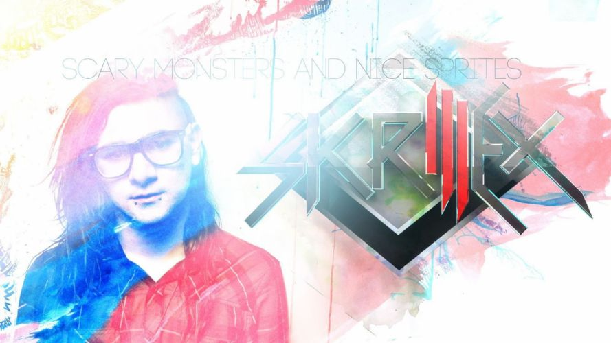 SKRILLEX dubstep electro house dance disco electronic robot cyborg poster wallpaper