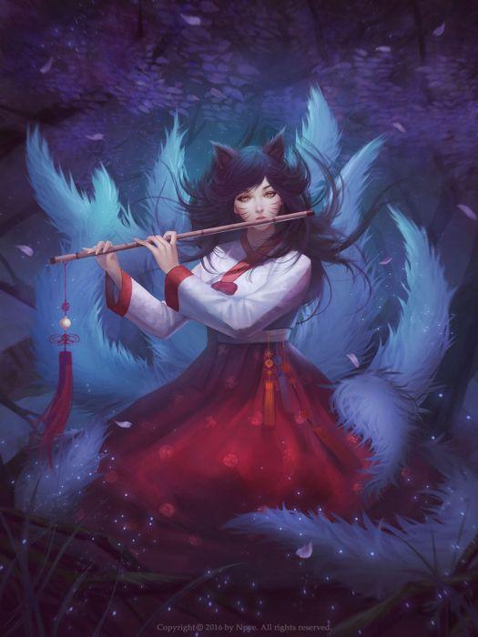original fantasy character beauty dress girl long hair wallpaper