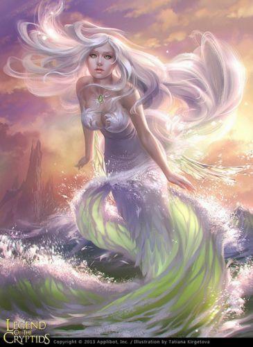 original fantasy character beauty girl water long hair beautiful mermaid wallpaper