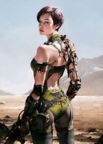 original fantasy character beauty girl warrior wallpaper