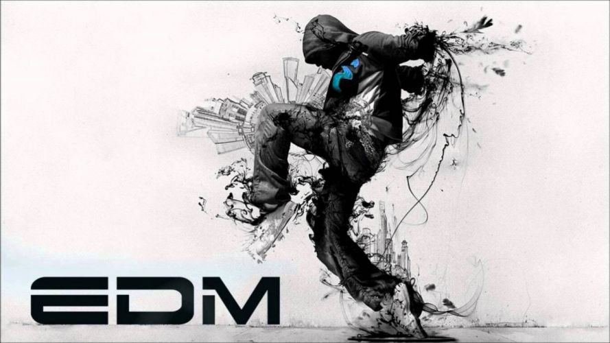 EDM dubstep electro house dance disco electronic concert rave poster wallpaper