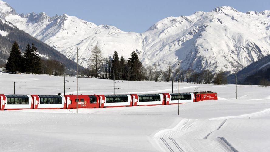 tren nievee invierno naturaleza wallpaper