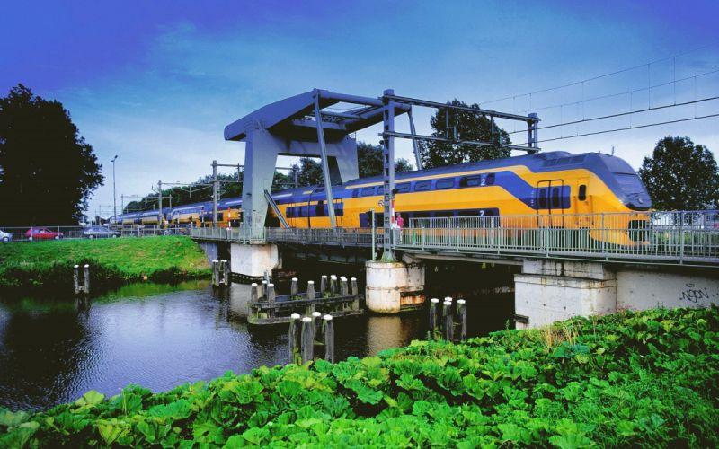 tren puente amarillo rio wallpaper
