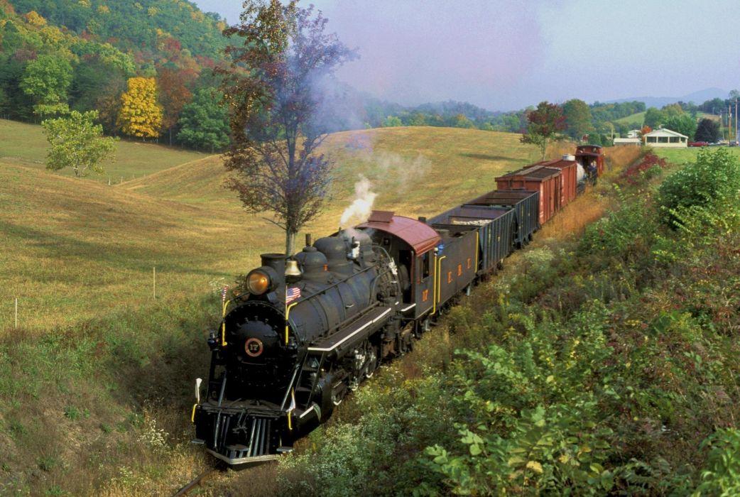 tren vapor campo naturaleza wallpaper