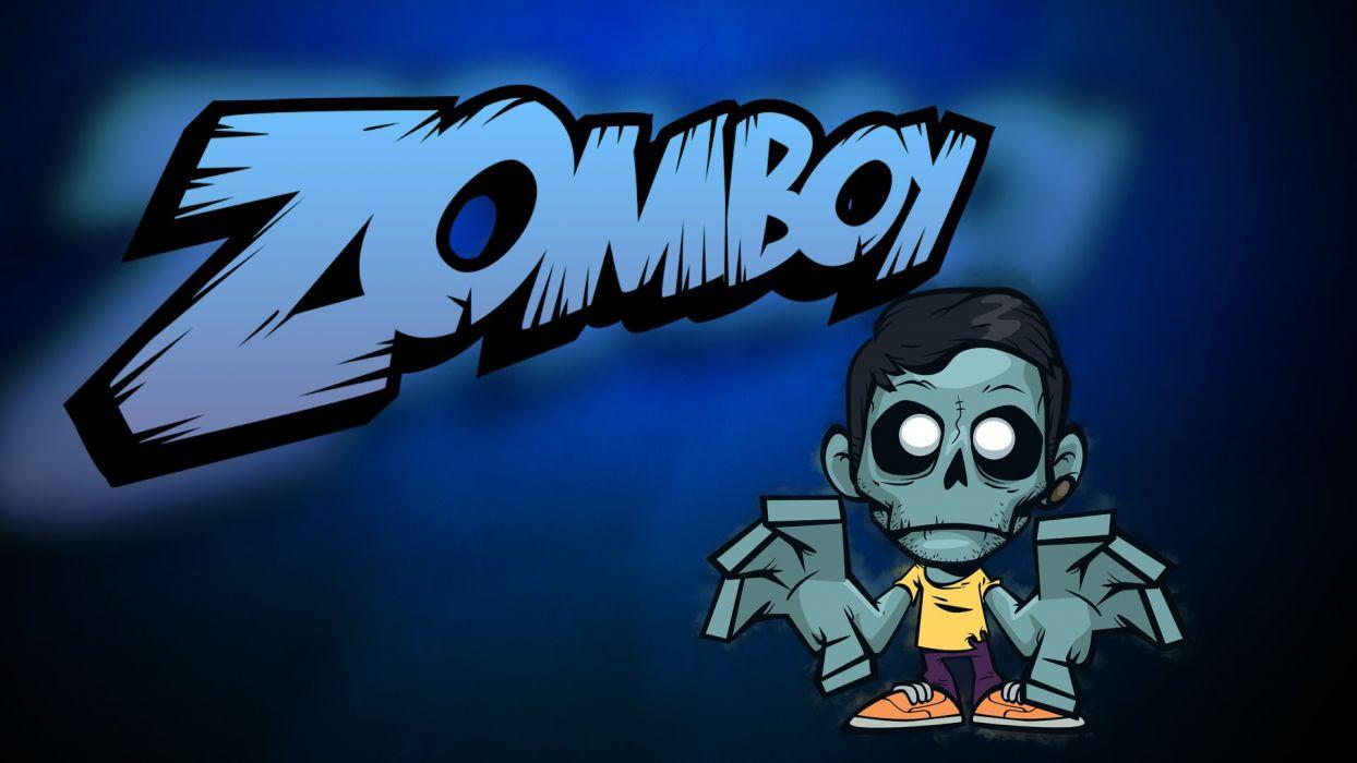 ZOMBOY dance electro house edm disco electronic pop dubstep hip hop d-j disc jockey dark horror evil zombie poster wallpaper
