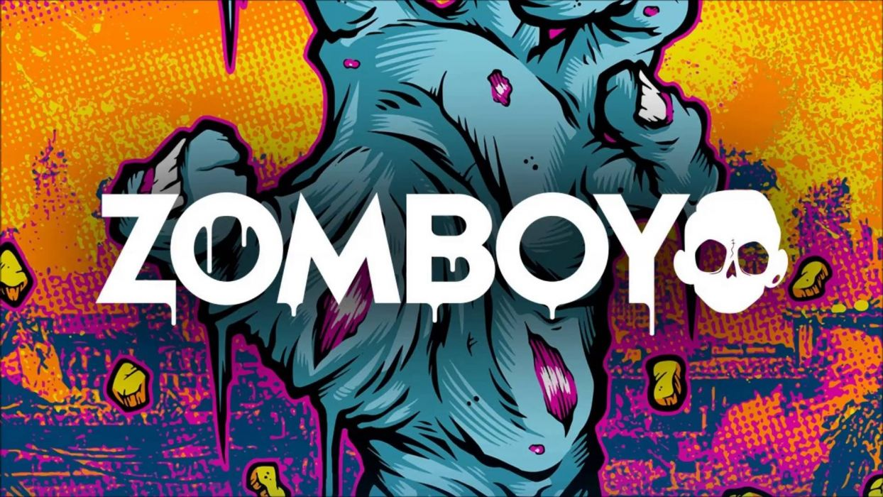 ZOMBOY dance electro house edm disco electronic pop dubstep hip hop d-j disc jockey dark horror evil zombie poster wallpaper