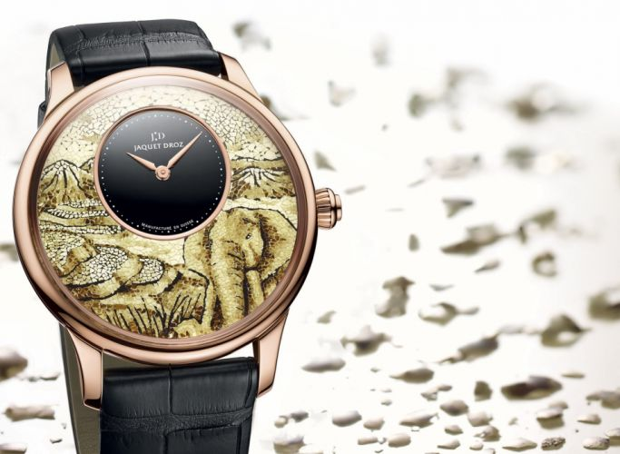 JAQUET DROZ watch time clock jewelry detail luxury wallpaper