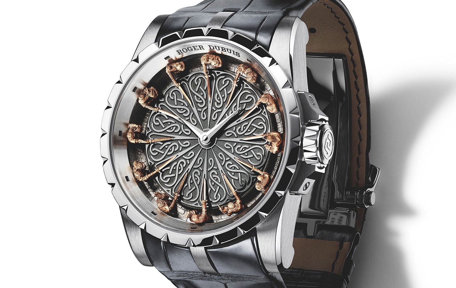 Roger dubuis watch time clock jewelry detail luxury - Roger dubuis knights of the round table watch ...