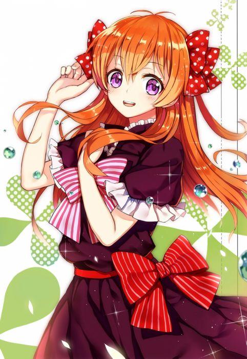 gekkan shoujo nozaki-kun sakura long hair anime series dress cute girl beauty school uniform wallpaper