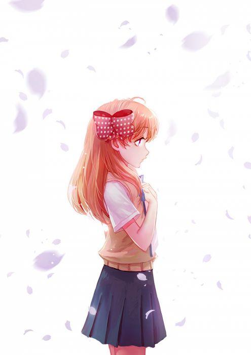 gekkan shoujo nozaki-kun sakura long hair anime series cute girl beauty school uniform wallpaper