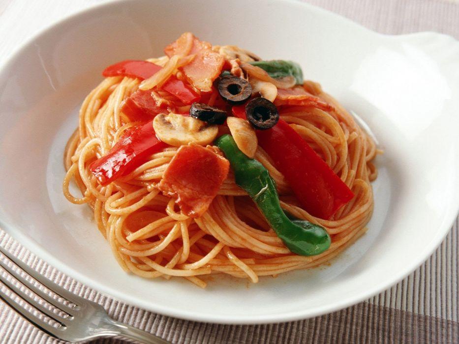 food spaghetti macaroni sauce wallpaper