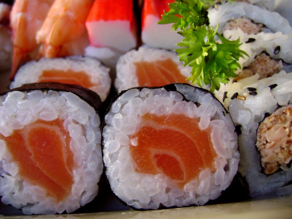 food sushi sashimi rice meat fish wallpaper