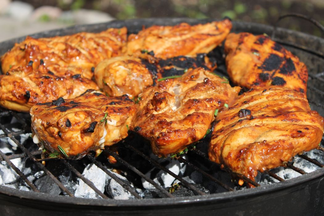 chicken barbecue meat juicy food mangal wallpaper