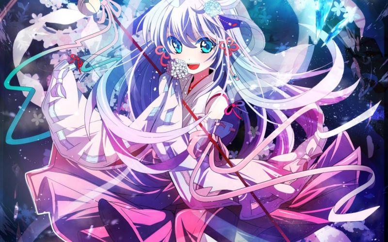fumiko miryana higurashi no naku koro ni hanyuu art anime girl cute smile dress wallpaper