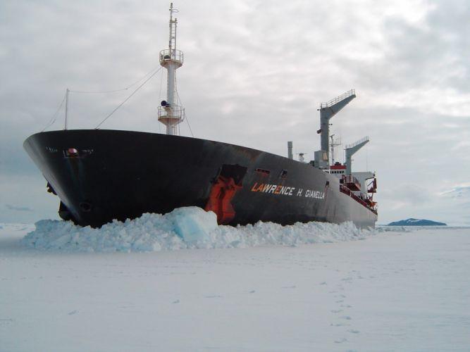 barco mercante hielo artico wallpaper