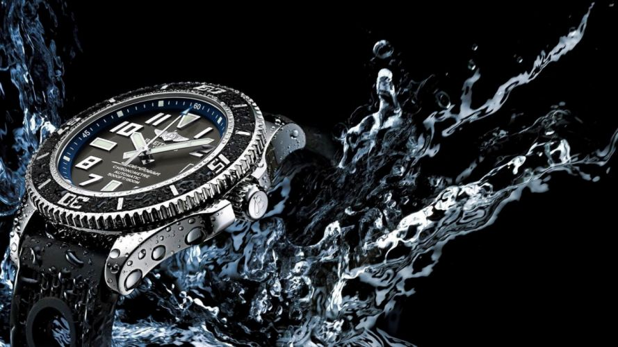 BREITLING watch time clock jewelry detail luxury wallpaper
