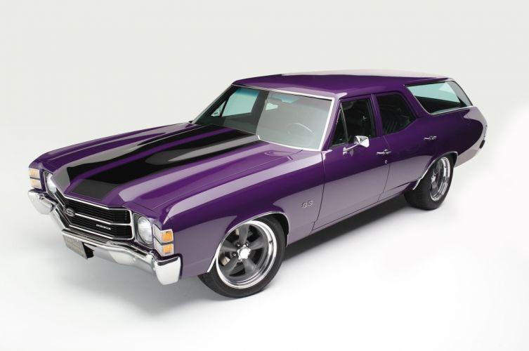 1971 Chevelle Wagon cars classic modified wallpaper