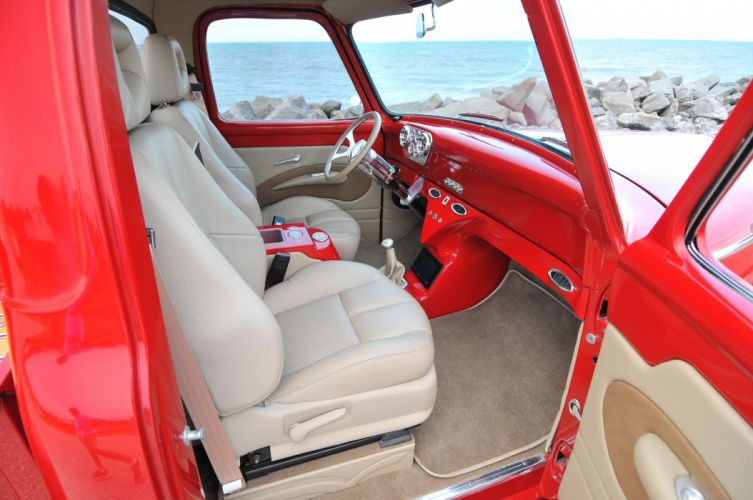 1955 Ford F-100 pickup cars classic modified wallpaper