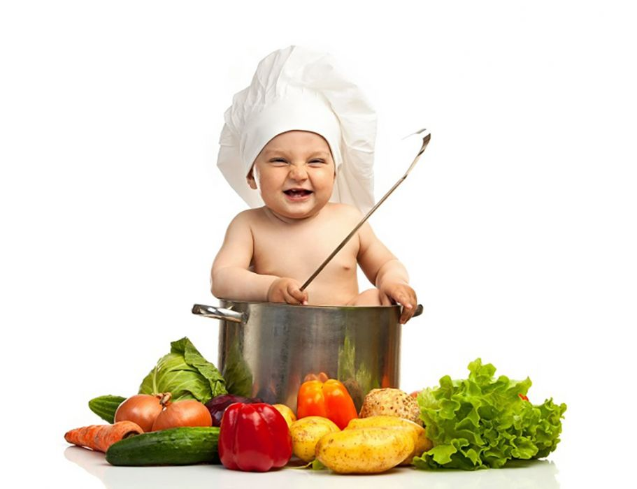cute baby vegetables in the pot child wallpaper