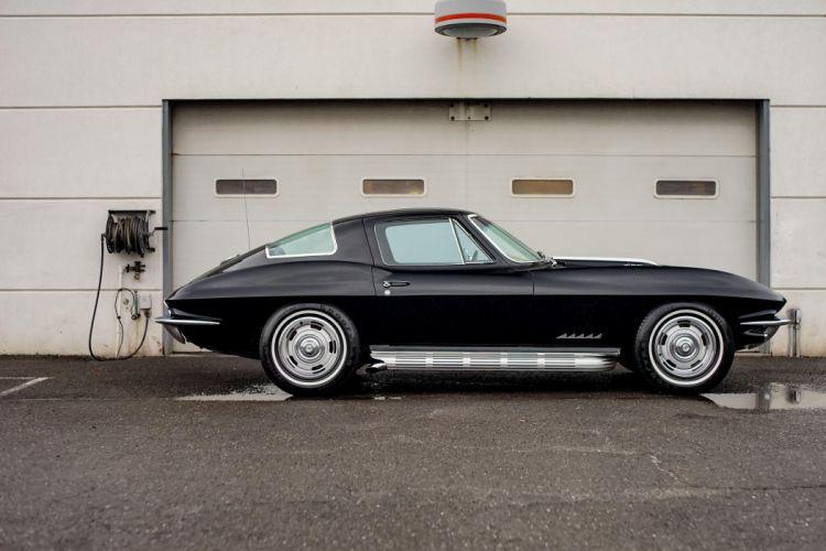 1967 Chevrolet Corvette Sting Ray L36 (C2) Fuel Injection cars classic black wallpaper