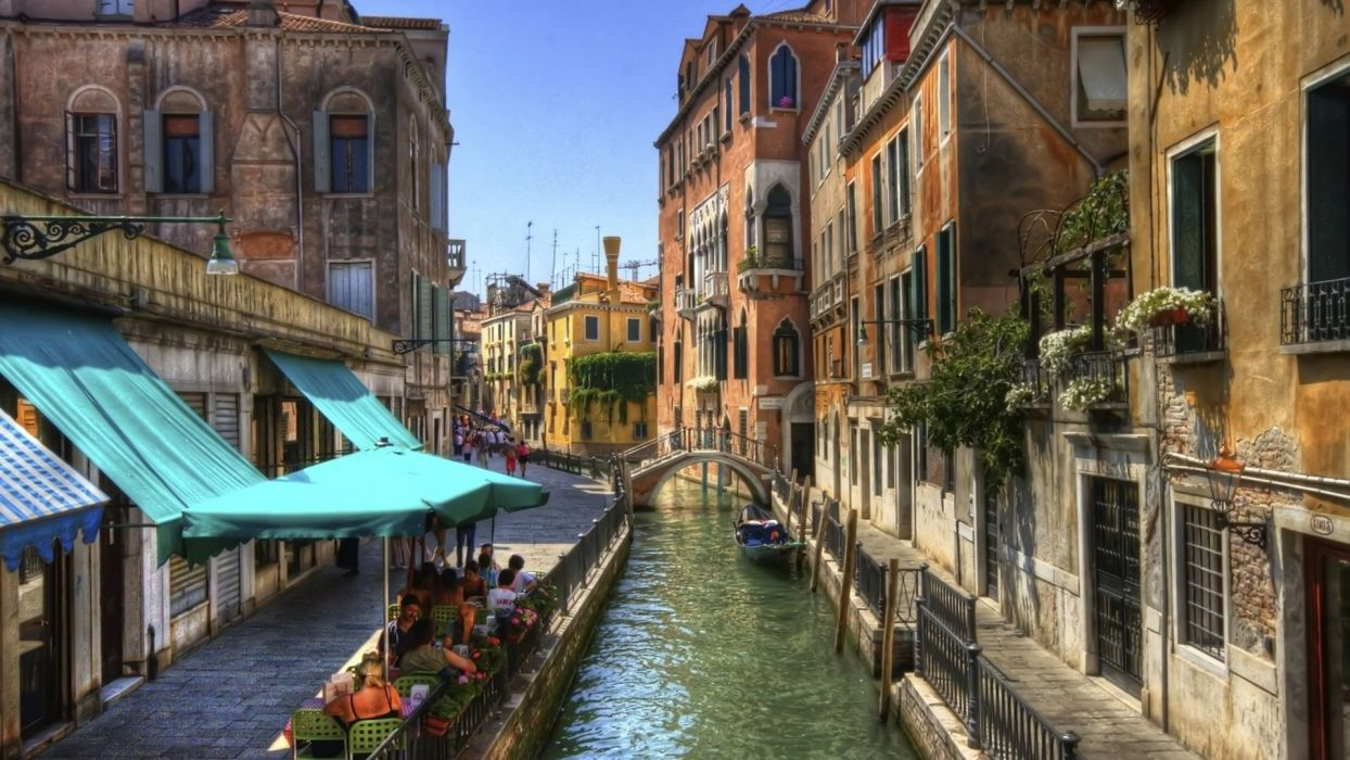 Venice Italy channel city wallpaper