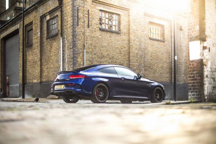 Mercedes AMG C63 S Coupe UK-spec (C205) cars blue 2016 wallpaper