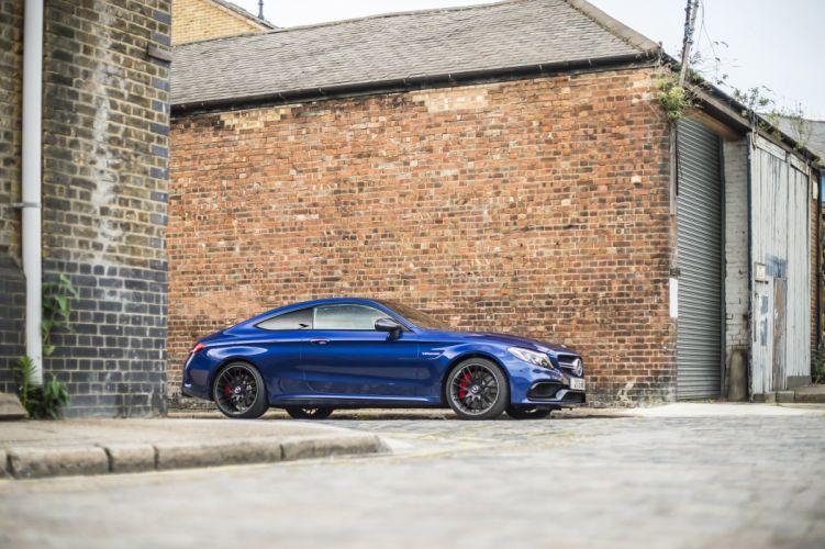 Mercedes AMG C63 S Coupe UK-spec (C205) cars blue 2016 wallpaper