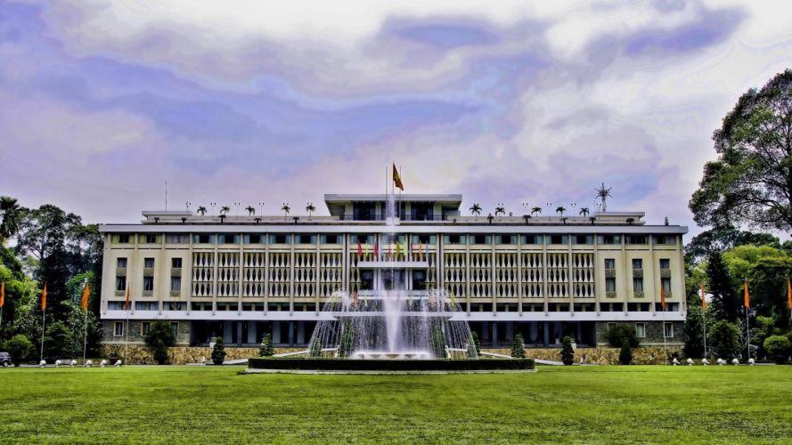 palacio hanoi vietam arquitectura wallpaper