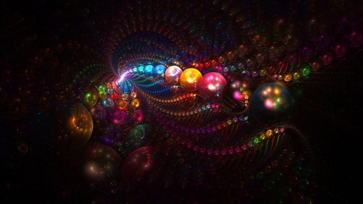 balls lines light abstraction wallpaper