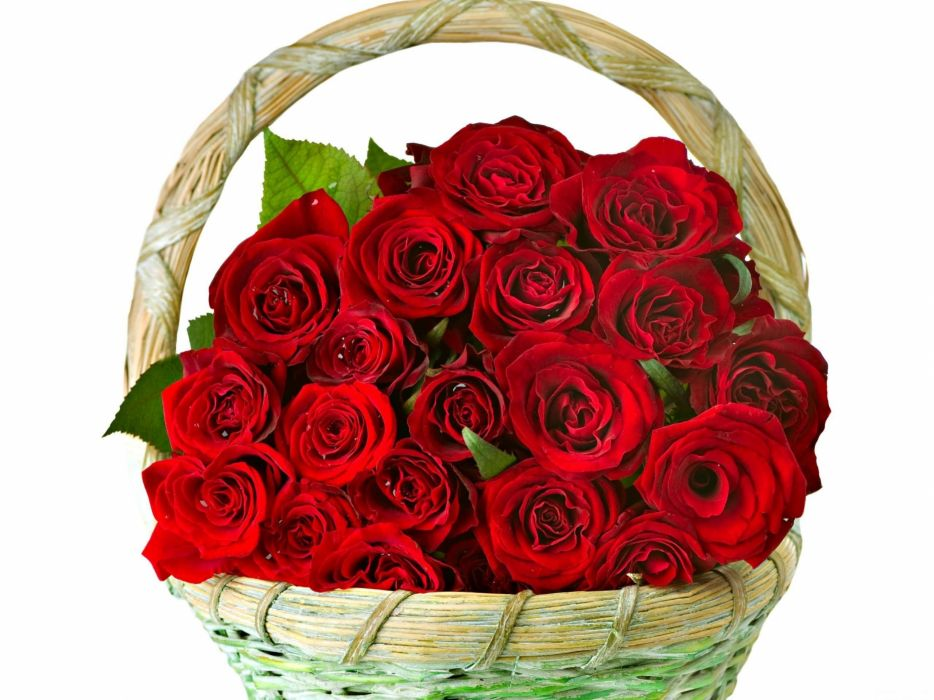roses flowers bunch basket smartly wallpaper