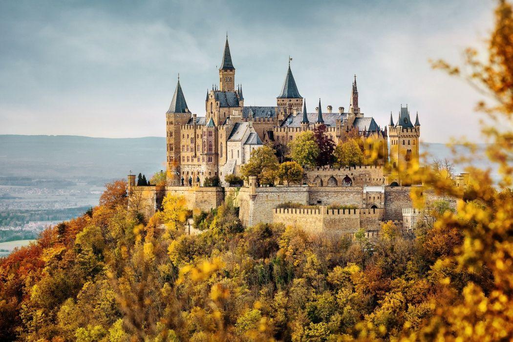 castillo colina bosque arquitectura wallpaper