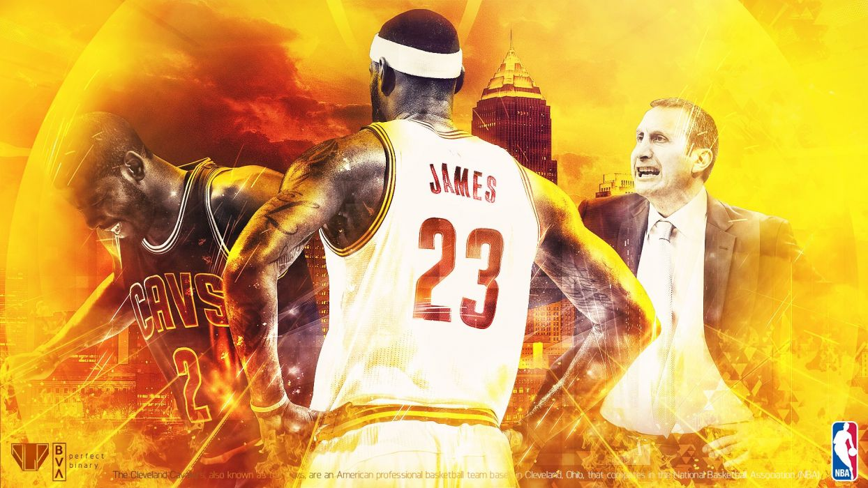 CLEVELAND CAVALIERS nba basketball poster wallpaper